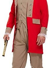 Adult-Mens-Red-Noble-Gentleman-Pirate-Explorer-Historical-Fancy-Dress-Costume-Outfit-0