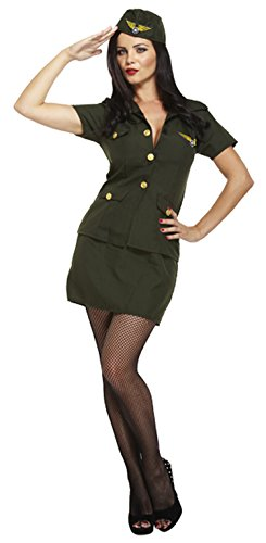 American-Army-Military-Ladies-Green-Uniform-1930s-Womens-Soldier-Fancy-Dress-0