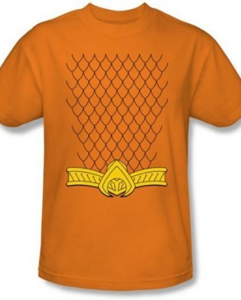 Aquaman-Uniform-Kostm-Erwachsene-Orange-T-shirt-0