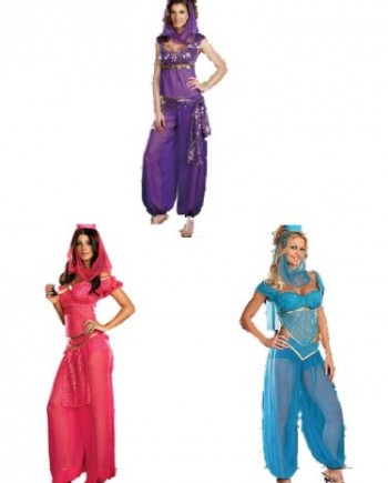 Burlesque-Box-Ladies-Belly-Dancer-Genie-Princess-Jasmine-Aladdin-Arabian-Nights-Adult-Fancy-Dress-Costume-0
