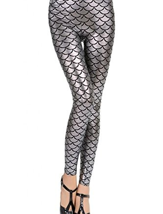 Cfanny-Womens-Metallic-Scales-Print-Mermaid-Legging-0