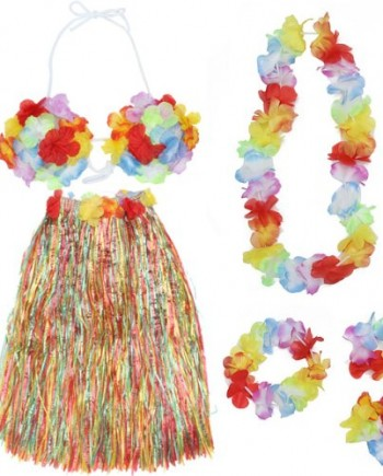 Colorful-Hawaiian-Tropical-Theme-Party-Hula-Luau-Grass-Dancer-Skirt-and-Bra-Set-0