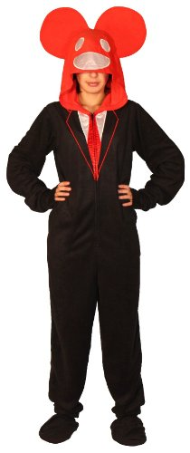 Deadmau5-Dead-Mouse-Adult-Black-and-Red-Hooded-Footie-One-Piece-Costume-Pajama-0