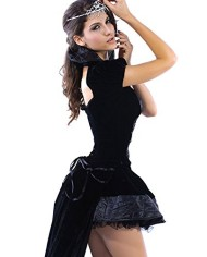 Dear-lover-Halloween-Womens-Velvet-Mopping-Loaded-Game-Queen-Costumes-0-0