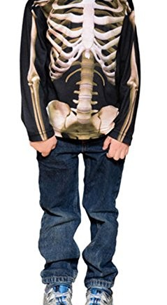 Faux-Real-Toddler-Skeleton-Halloween-Costume-Kids-T-shirt-0