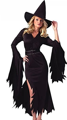 50d791cf2e2 LaLaAreal Halloween Costumes for Women Retro Witch Sorceress Costume 2  Pieces with Hat - The Otley Run