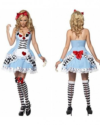 Ladies-Adult-Sexy-Alice-In-Wonderland-Costume-Womens-Fancy-Dress-Disney-Outfit-0