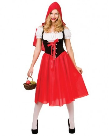Ladies-Little-Red-Riding-Hood-Fancy-Dress-Up-Party-Halloween-Costume-Outfit-New-0
