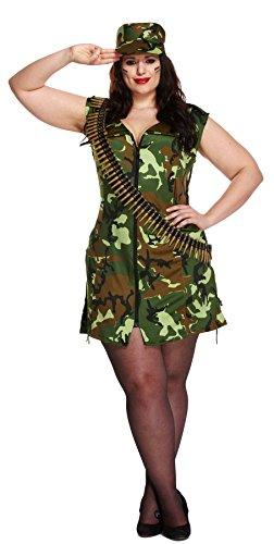 Ladies-Sexy-Army-Girl-Military-Fancy-Dress-Plus-Size-Soldier-Cap-Dress-Costume-0