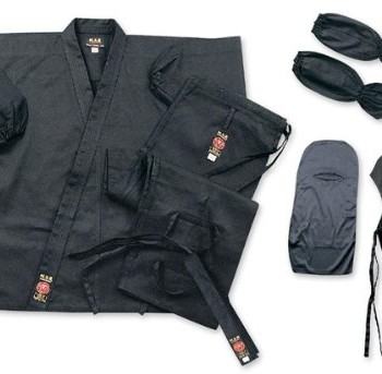 MAR-International-Ltd-Ninja-Uniform-Gi-Suit-Outfit-Clothing-Ninjitsu-Gear-Cotton-Fabric-Black-0