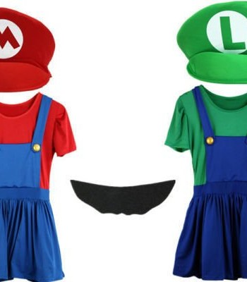 Mario-and-Luigi-Costumes-Adult-Womens-Super-Plumber-Bros-Halloween-Fancy-Dress-0