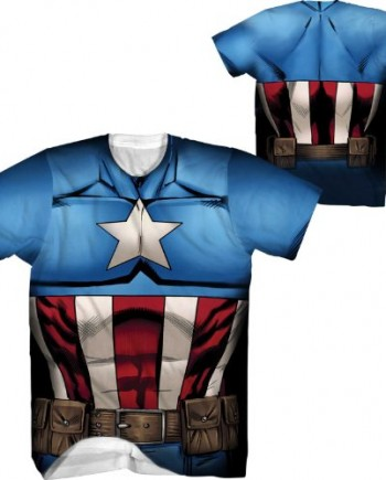 Marvel-Captain-America-Cappin-Stance-Sublimated-Mens-Costume-T-Shirt-0