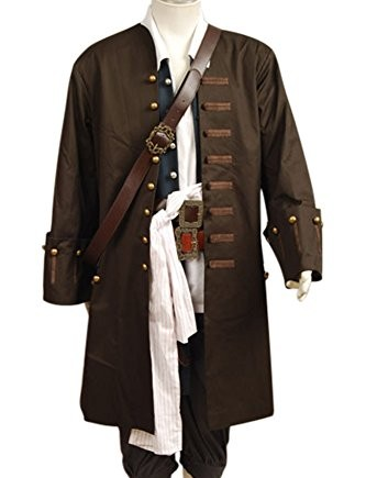 Pirates-Of-The-Caribbean-Jack-Sparrow-Jacket-Vest-Belt-Shirt-Pants-Costume-Set-adult-EU-size-0