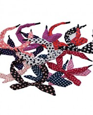 Rabbit-Ears-Polka-Dot-Fabric-Covered-Bow-Head-band-Alice-Band-Hair-Set-of-2-random-colors-0-2