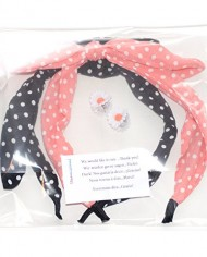 Rabbit-Ears-Polka-Dot-Fabric-Covered-Bow-Head-band-Alice-Band-Hair-Set-of-2-random-colors-0-3