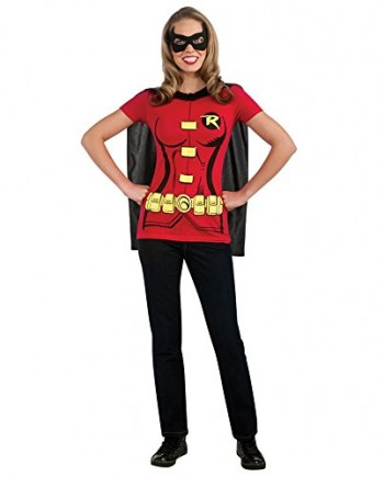 Robin-Womens-Costume-Kit-T-Shirt-Mask-Removable-Cape-Batman-Movie-Adult-Fancy-Dress-0