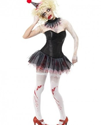 Smiffys-Zombie-Clown-Instant-Kit-with-Tutu-Neck-Ruffle-and-Mini-Hat-0