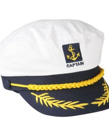 TOOGOOR-Sailor-Ship-Boat-Captain-Hat-Navy-Marins-Admiral-Adjustable-Cap-White-0