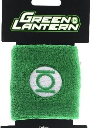 TV-Store-Green-Lantern-Embroidered-Logo-Green-Terrycloth-Wristband-0