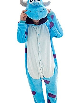 Wealth-Unisex-Adult-Cosplay-Onesie-Christmas-Party-Costume-Sully-Pajamas-0