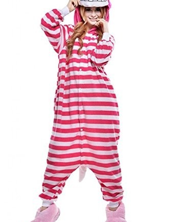 Wealth-Womens-Pink-Cat-Cospaly-Onesie-Pajamas-Christmas-Costume-0