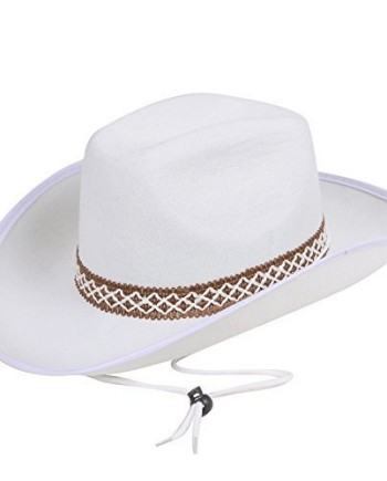 White-Cowboy-Hat-with-decorative-band-Adult-Fancy-Dress-Accessory-0