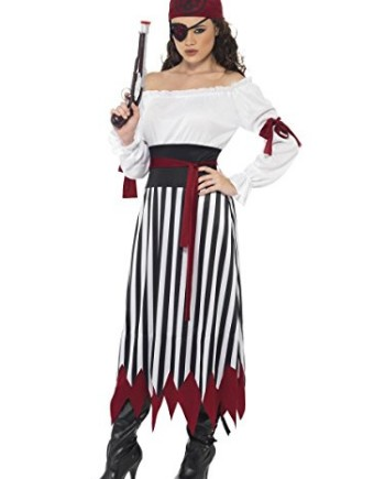 Womens-Adult-Sexy-Carribean-Pirate-Bucaneer-Sea-Fancy-Dress-Costume-Theme-Outfit-0